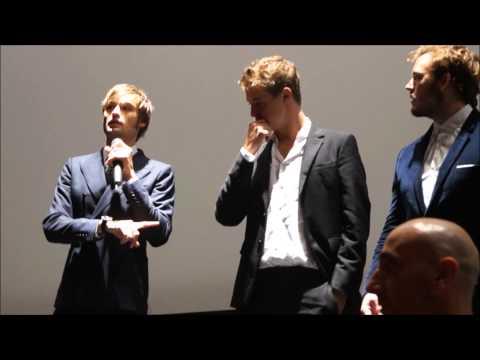 The riot club cast in Rome (Posh italian premiere)