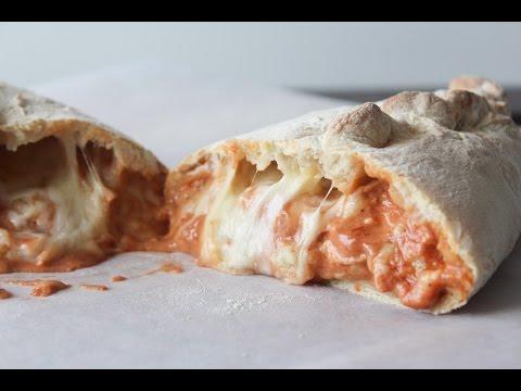 How To Make Chicken BBQ Sour Cream Calzones - By One Kitchen Episode 460