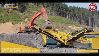 Keestrack Impactor in Ohau Quarries, Levin, New Zealand - French