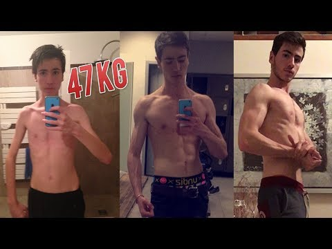 INCREDIBLE TRANSFORMATION MUSCULATION - Skinny to Fit (+ 14kg )