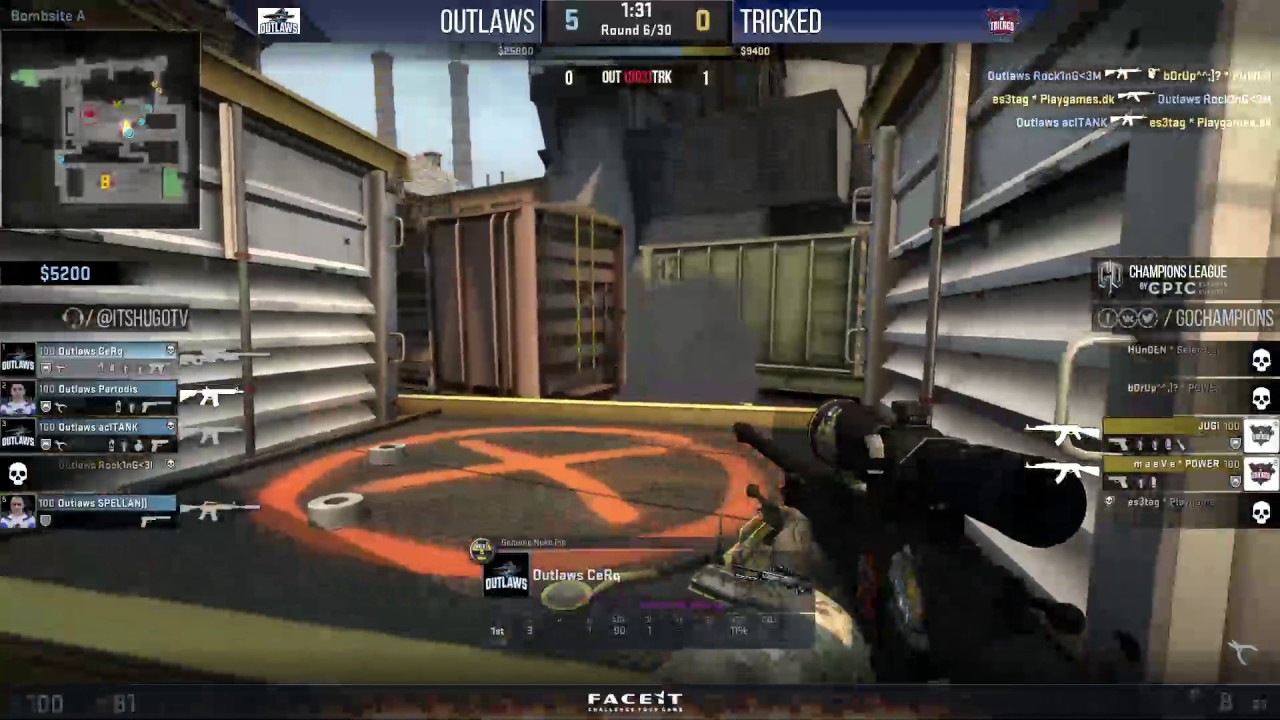 [EN] Tricked vs. Outlaws (Map 2) @GOCL S5