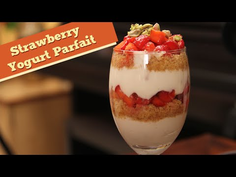Strawberry Yogurt Parfait | How To Make Parafait | Divine Taste With Anushruti