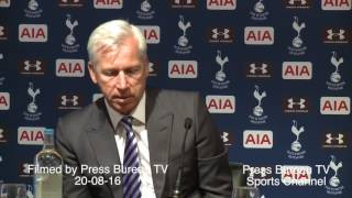 Alan Pardew reaction Tottenham vs Crystal Palace