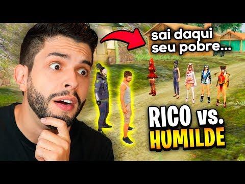 SÓ TEM INTERESSEIRA?? RICO VS HUMILDE NAS CANTADAS DO FREE FIRE