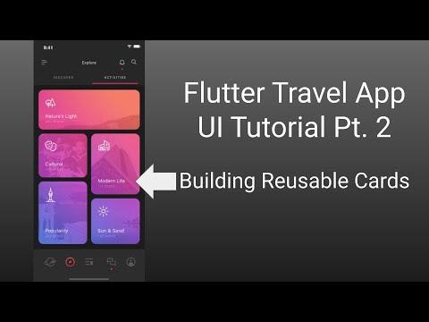 Travel App (Part 2) - Flutter UI