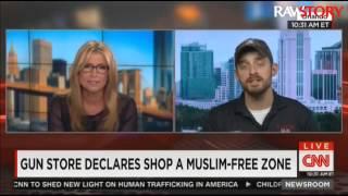 Andy Hallinan talks to CNN about his 'Muslim-free' gun store
