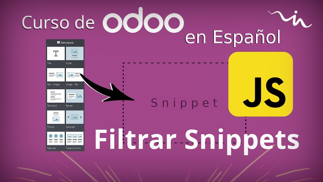 Cursos Odoo - Filtrar contenido de Snippet