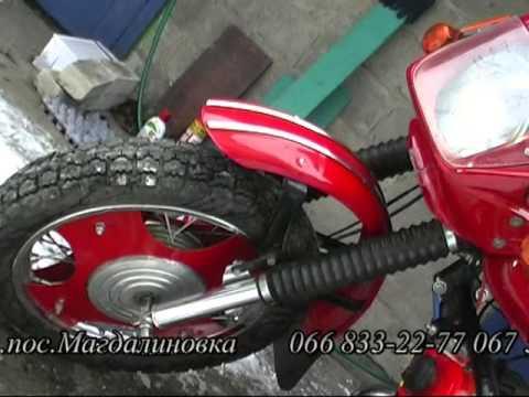 Моторолер муравей двигатель ИЖ- планета 3. - YouTube