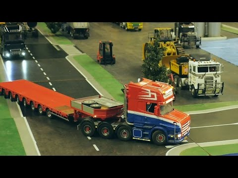 Scania RC model trucks, Minitruckers.nl, Mackdag 2014 truckshow, Holland