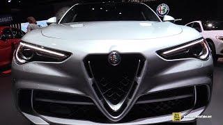 2019 Alfa Romeo Stelvio Quadrifoglio - Exterior and Interior Walkaround - 2018 LA Auto Show