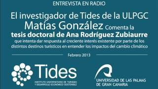 Entrevista Radio, Matías González, Instituto Tides, febrero 2013
