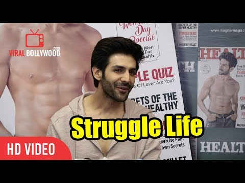 kartik Aryan About His Struggle Life | Cover Boy of Health And Nutrition Magazine's