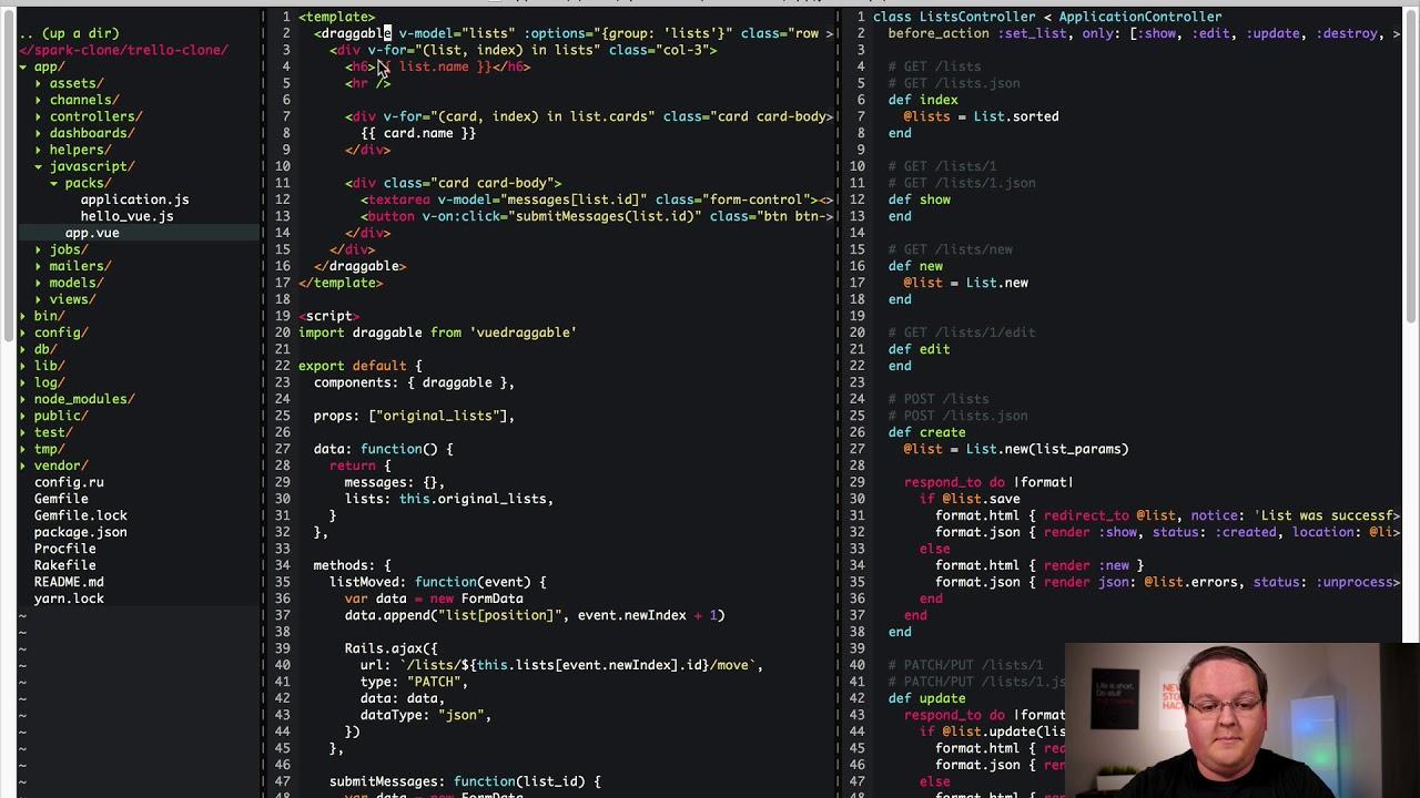 Rails & Vue js Trello Clone - Part 4 (Example) | GoRails
