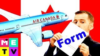 Arriving In Canada 😃😃😃   Customs Form   How To Complete!