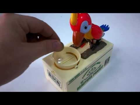 Parrot Eating Coins Bank