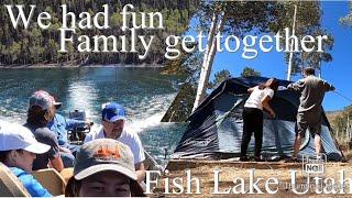 Camping and fishing aт Fish Lake Utah Beautiful place to unwind