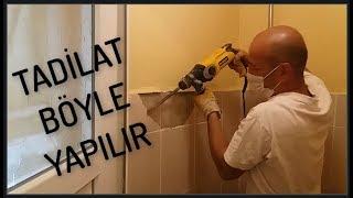 Tadilat böyle yapılır & Fayans döşeme & Tesisatçı & wc - banyo & bathroom