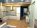 Reforma virtual de apartamento en edificio en Arenys de Munt. Apartamento D