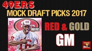 Live! 49ers Mock Draft Picks 2017 - Ronbo Sports Red & Gold GM EP 12 thumbnail
