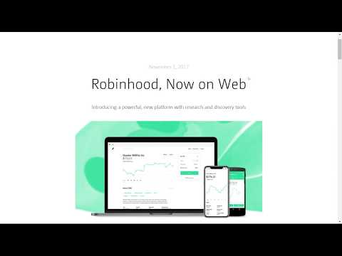 Robinhood for Web Review 2018 Free Options Trading Stock Strategies, paper trading and OTC market!?!