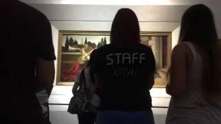 フィレンツェのウフィツィ美術館、レオナルド・ダ・ヴィンチの『受胎告...