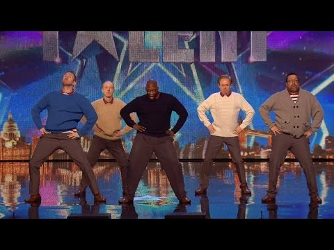 Britain's Got Talent 2015 S09E04 Old Men Grooving Middle Aged Dance Group