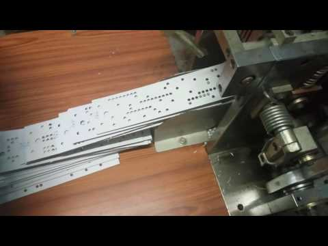 Jacquard card punch machine