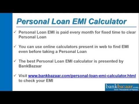 How to Use Personal Loan EMI Calculator? - YouTube