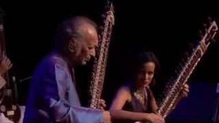 Ravi Shankar with daughter Anoushka Shankar and...