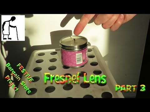 Lighting a Festive Candle with a Fresnel Lens