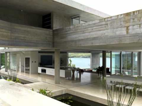 Modern House Design With Natural Material And Dramatic View On Hamilton Island