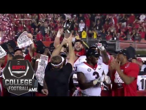 Georgia Bulldogs lift the 2018 Rose Bowl trophy | ESPN ...