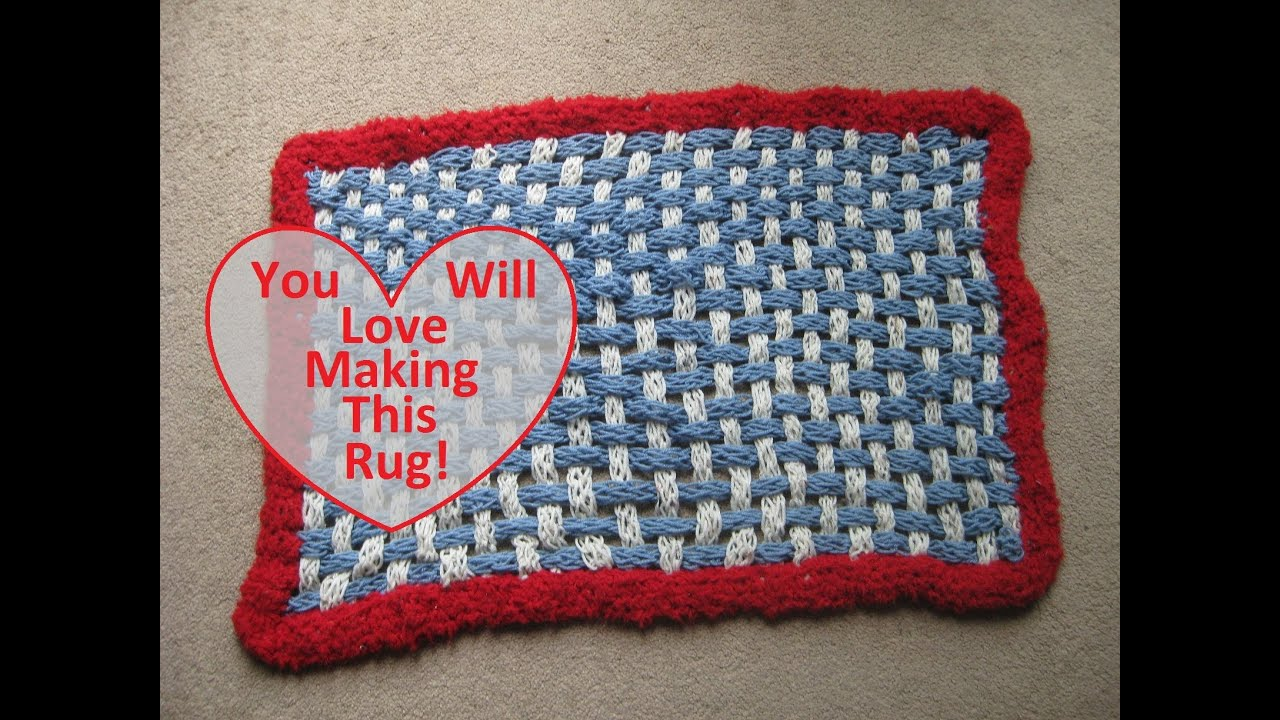 How to make a finger knit rug youtube bankloansurffo Images