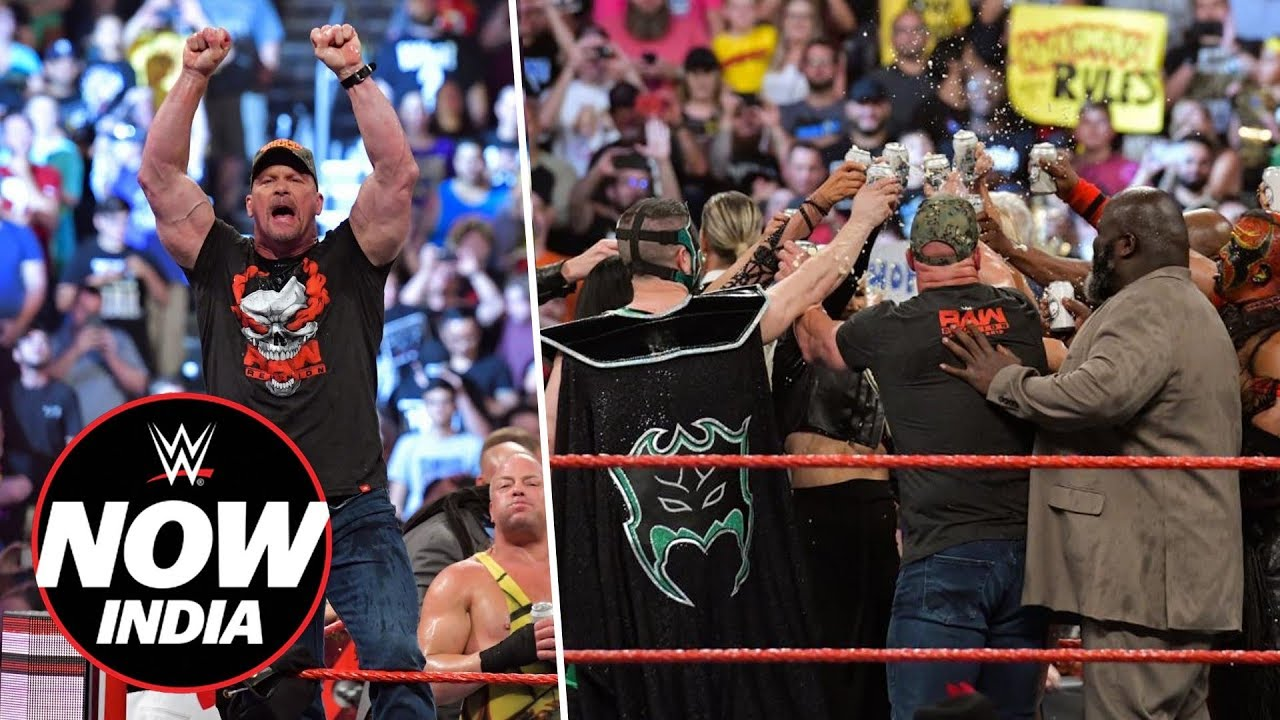 Stone Cold Steve Austin & Legends toast to RAW: WWE Now India