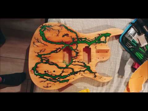 Building a guitar with lichtenberg figure and epoxy resin