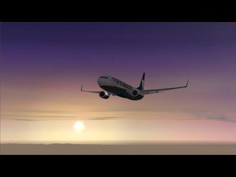 VRyanair PMDG 737-800 NGX | London Stansted EGSS to Plovdiv LBPD (Bulgaria) ✈ FSX SE