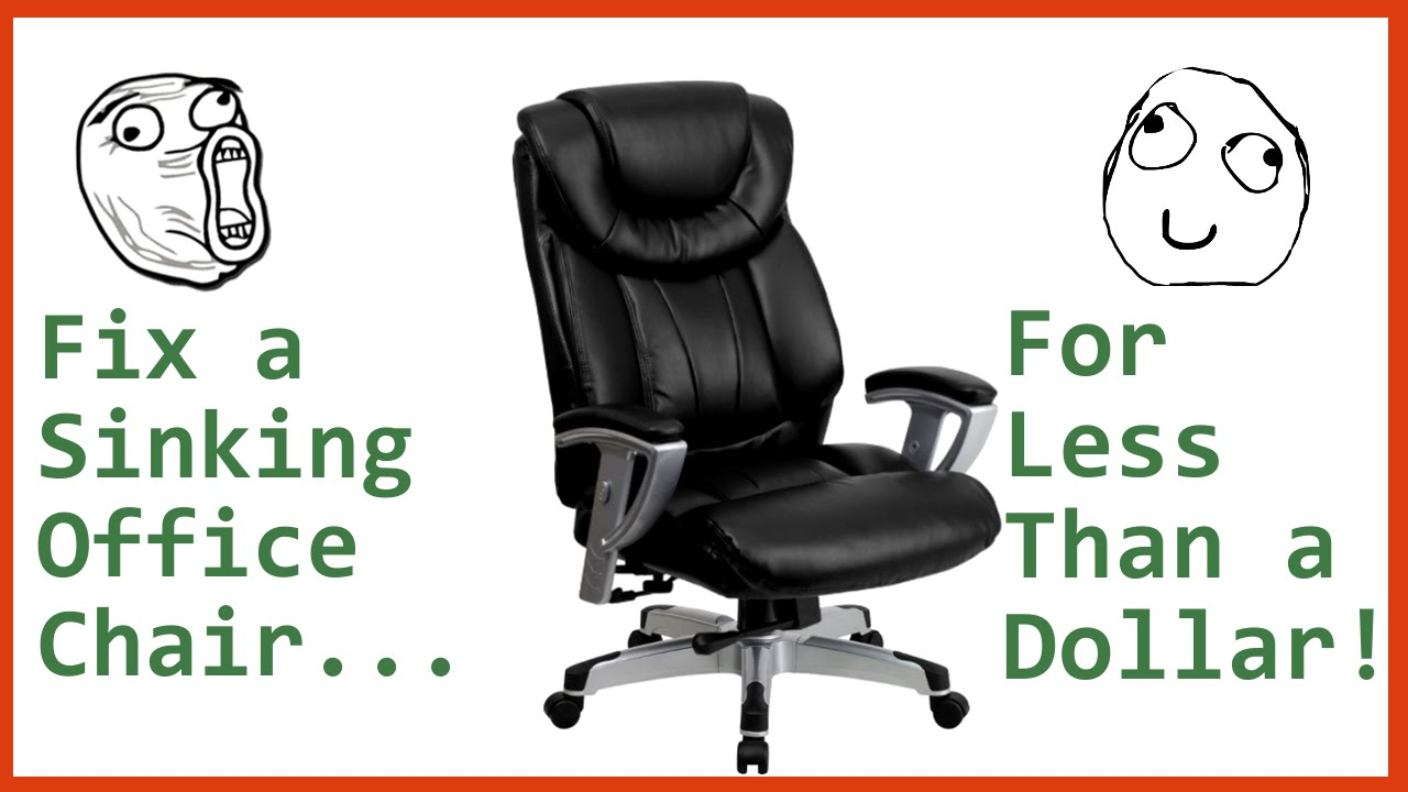 Chair Repair Fix A Sinking Office Chair For Less Than A Dollar Tutorial
