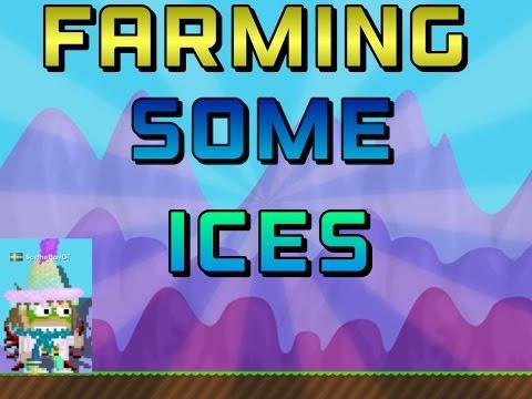 GrowTopia - Farming Some Ice Blocks