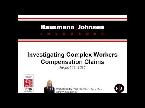 On Demand Webinar: Investigating Complex Workers Compensation Claims