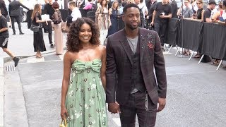 Dwyane Wade and wife Gabrielle Union at Valentino Men Fashion Show in Paris