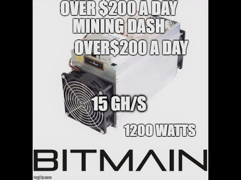 Antminer D3 X11 15 GH/s Over $200 A Day Mining Dash
