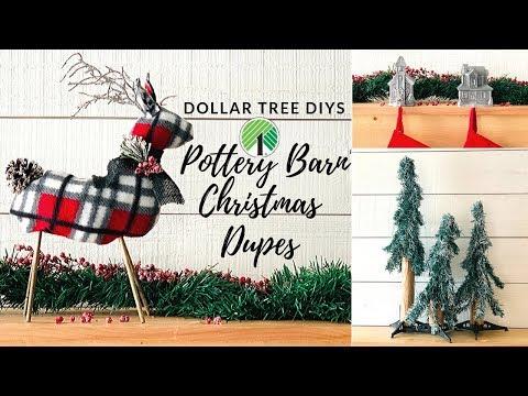 POTTERY BARN CHRISTMAS INSPIRED DOLLAR TREE DIYS