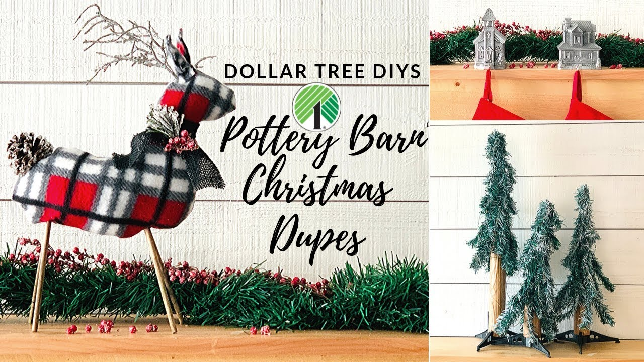 Pottery Barn Christmas.Pottery Barn Christmas Inspired Dollar Tree Diys