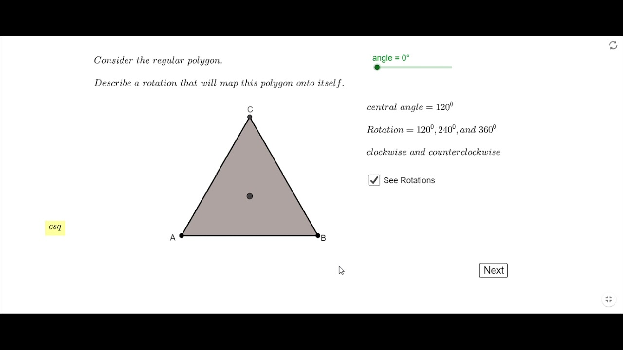 Rotation of Regular Polygon around its Center