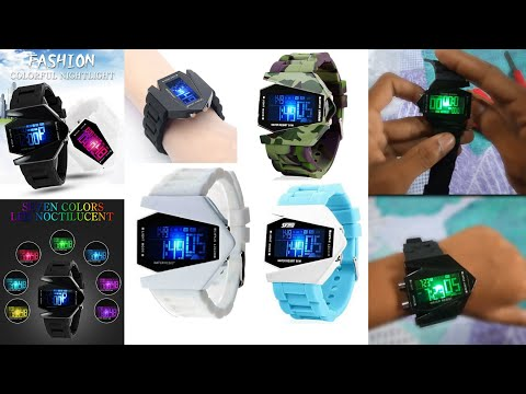 B01MTEFBYR Black Aircraft Watch Digital Watch- For Boys | By UNBOXING R.I.M