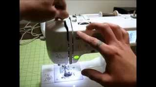 How To Thread The Brother SE400 Embroidery and Sewing Machine (beginner)