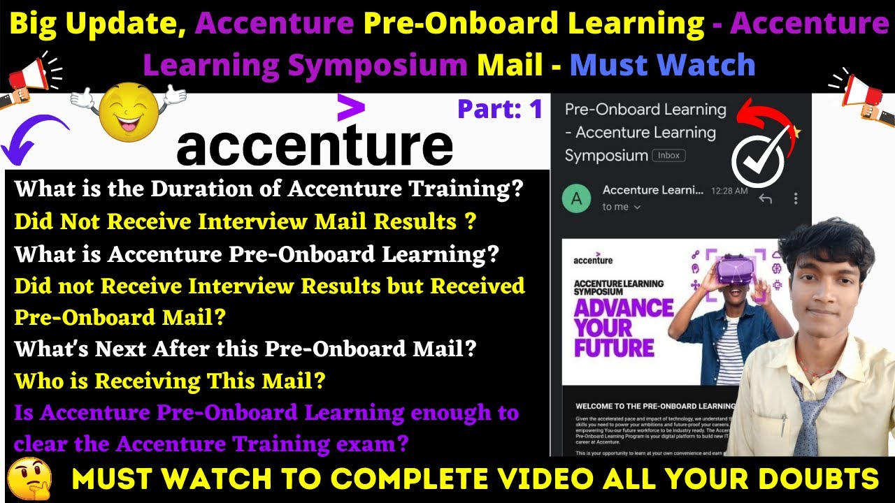 💥 Big Update, Accenture Pre Onboard Learning   Accenture Learning  Symposium Mail Update   Must Watch