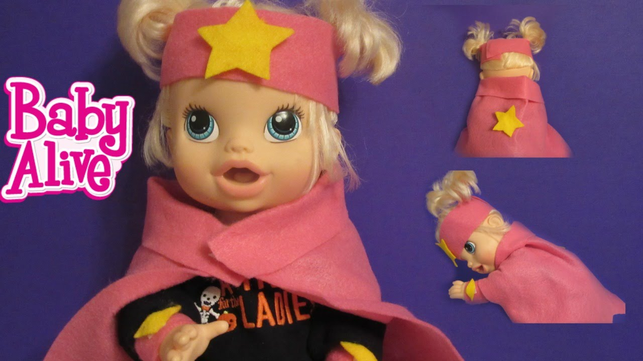 Baby Alive Halloween Costume! Superhero Girl Costume! Part 1 of 4 ...