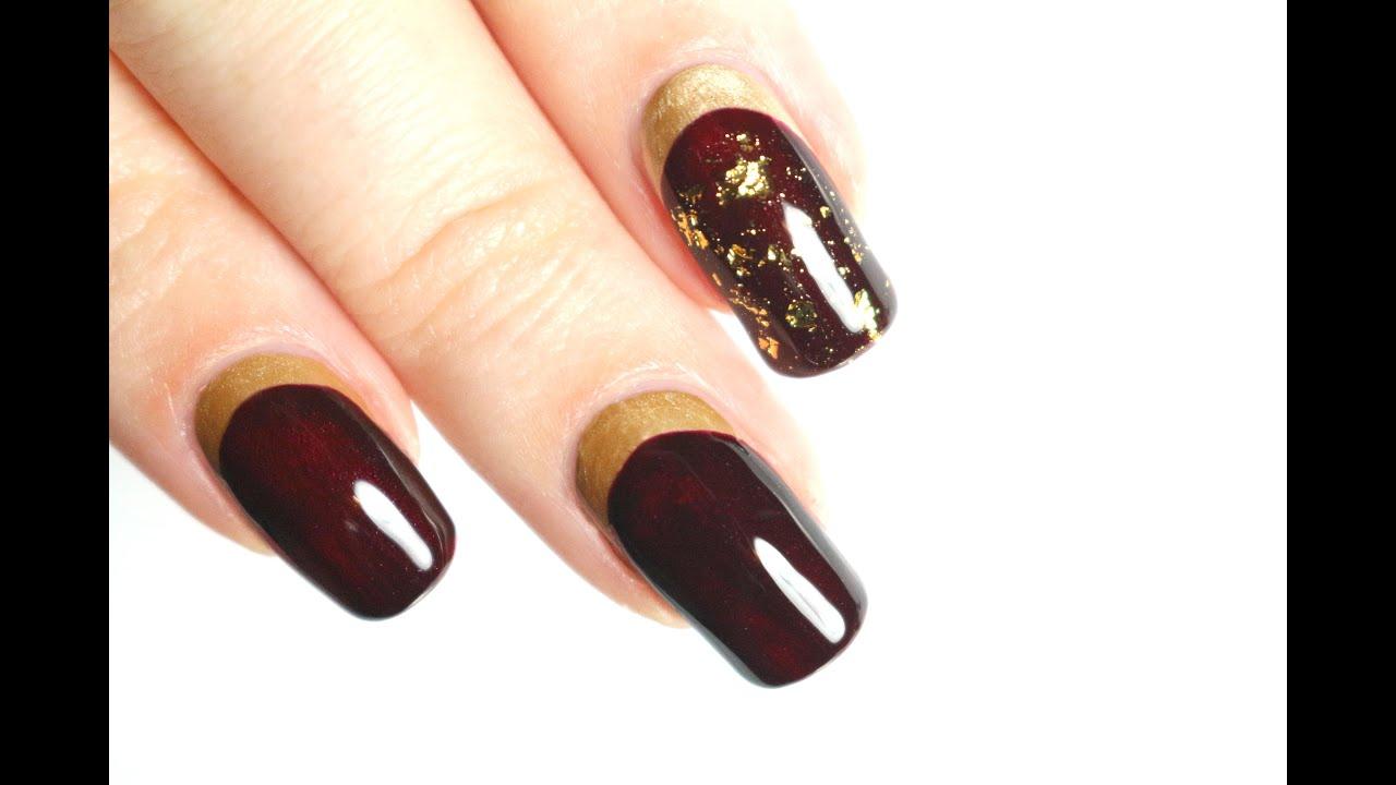 Feuille d'or nail art