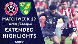 Sheffield United v. Norwich City | PREMIER LEAGUE HIGHLIGHTS | 3/7/2020 | NBC Sports